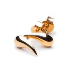 Łezki - złote kolczyki